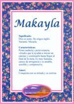 Nombre Makayla