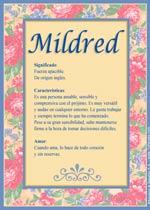 Nombre Mildred