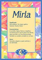 Nombre Mirla