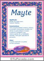 Nombre Mayte