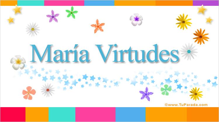 María Virtudes, imagen de María Virtudes