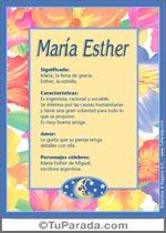 Nombre María Esther