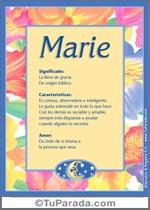 Nombre Marie