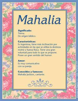 Nombre Mahalia