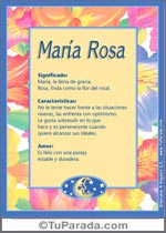 Nombre María Rosa