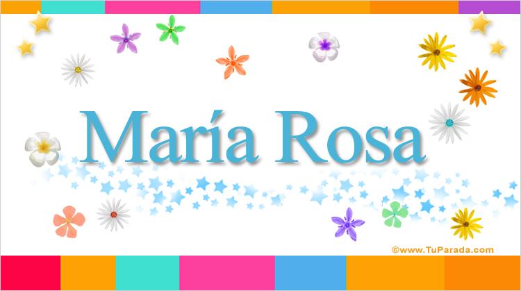 María Rosa, imagen de María Rosa