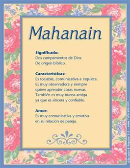 Nombre Mahanain
