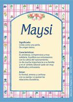 Nombre Maysi