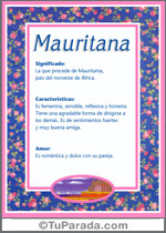 Nombre Mauritana