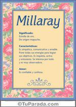 Nombre Millaray