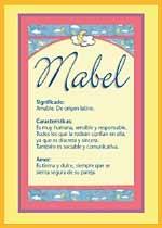 Nombre Mabel