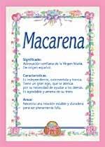 Nombre Macarena