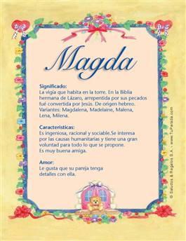 Nombre Magda