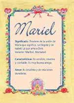 Nombre Mariel