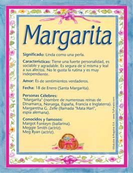 Nombre Margarita