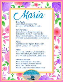 Nombre María