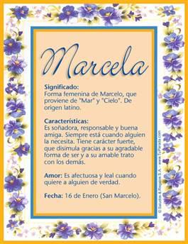 Nombre Marcela