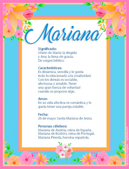 Nombre Mariana
