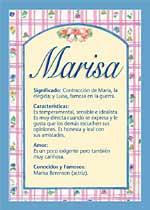 Nombre Marisa