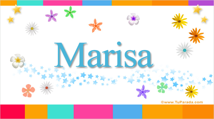 Feliz Cumpleanos Marisa.Marisa Nombres Populares De Mujer Tarjetas