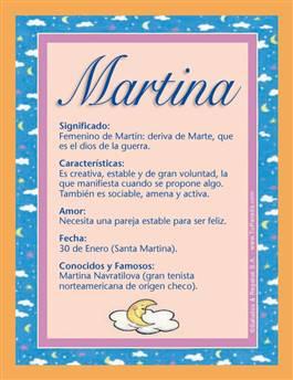 Nombre Martina