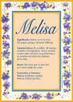 Nombre Melisa