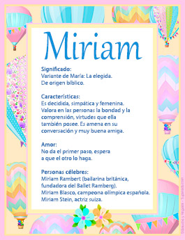 Nombre Miriam