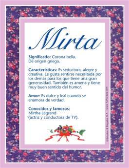 Nombre Mirta