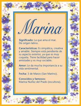 Nombre Marina