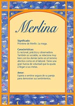Nombre Merlina