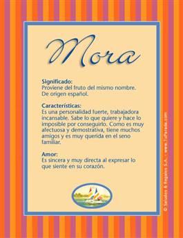 Nombre Mora