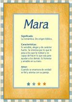 Nombre Mara