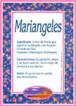 Nombre Mariangeles