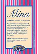 Nombre Mina