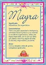 Nombre Mayra