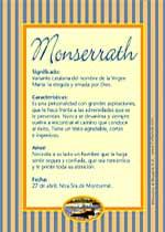 Nombre Monserrath