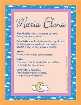 María Elena M Tarjetas