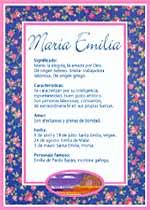 Nombre María Emilia