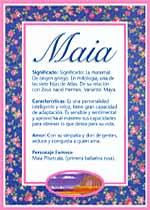 Nombre Maia