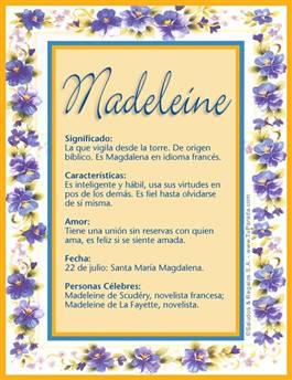 Nombre Madeleine