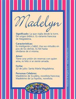 Nombre Madelyn