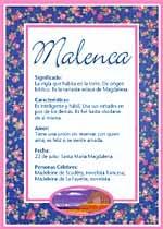 Nombre Malenca