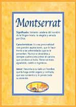 Nombre Montserrat