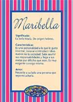 Nombre Maribella
