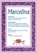Nombre Marcelina