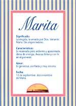 Nombre Marita