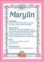 Nombre Marylin