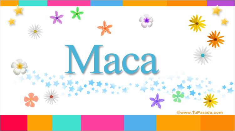 Maca, imagen de Maca