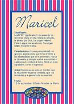 Nombre Maricel