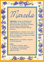 Nombre Marzela